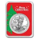 2020 1 oz Silver American Eagle - Merry Christmas (Tree)