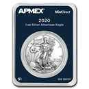 2020 1 oz Silver American Eagle (MintDirect® Single)