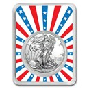 2020 1 oz Silver American Eagle - Stars & Stripes Burst