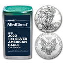 2020 1 oz Silver American Eagles (20-Coin MintDirect® Tube)