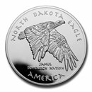 2020 1 oz Silver State Dollars North Dakota Eagle