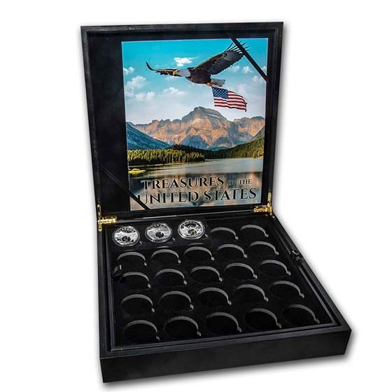 2020 1 oz Silver Treasures of the U.S. 3-Coins & 50-Coin Box Set