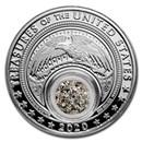 2020 1 oz Silver Treasures of the US Arkansas Diamonds