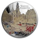 2020 2 oz Ag $2 American Revolution 250th Anniv Boston Massacre
