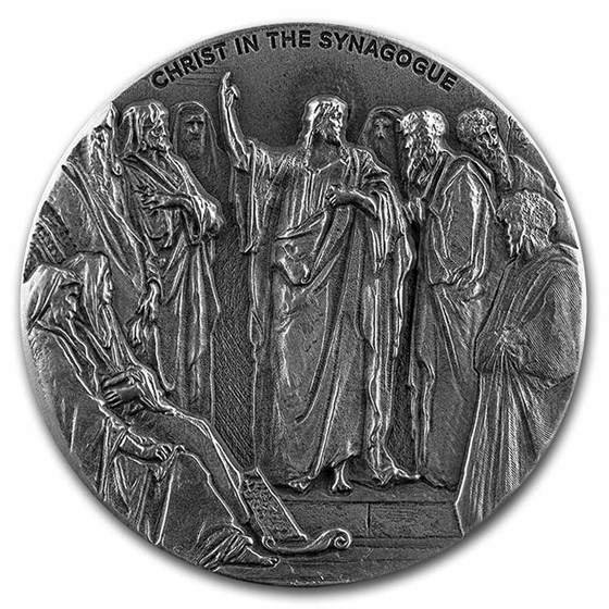 2020 2 oz Silver Coin - Biblical Series (Christ in the Synagogue)