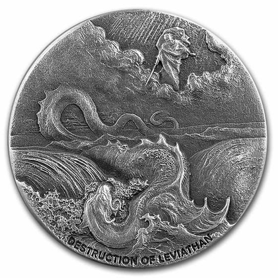 2020 2 oz Silver Coin Biblical Series (Destruction of Leviathan)