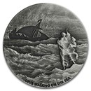 2020 2 oz Silver Coin - Biblical Series (Jesus Walks on the Sea)