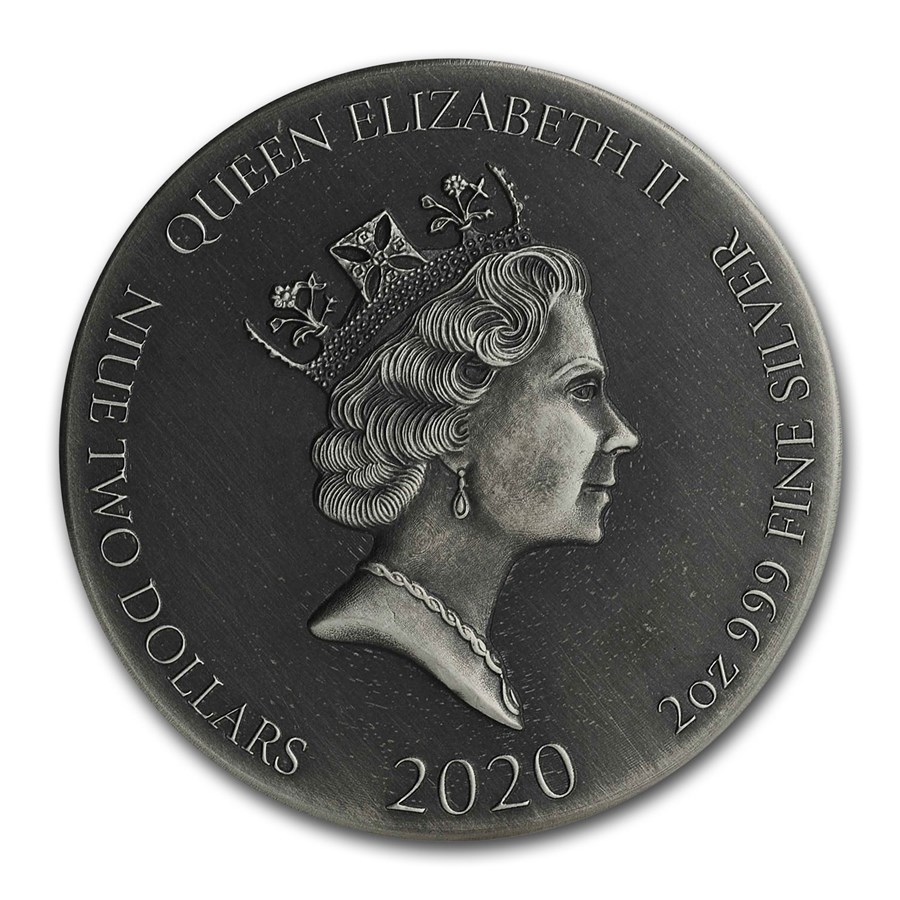 2020 2 oz Silver Coin - Biblical Series (Resurrection of Lazarus)