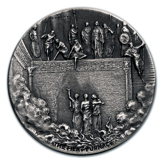 2020 2 oz Silver Coin - Biblical Series (The Fiery Furnace)