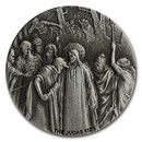 2020 2 oz Silver Coin - Biblical Series (The Judas Kiss)
