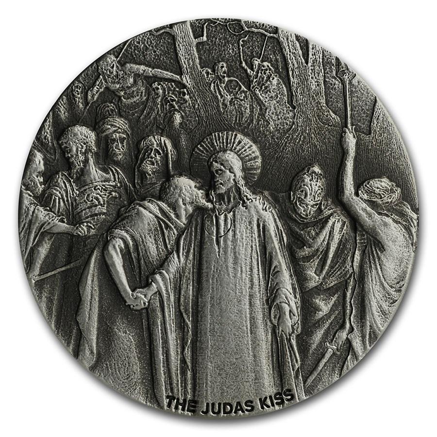 2020 2 oz Silver Coin - Biblical Series (The Judas Kiss)