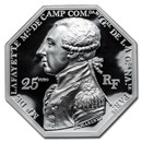 2020 2 oz Silver Great Dates of Humanity (Lafayette in Boston)