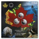 2020 25-Cent Connecting Canada 3-Coin Set