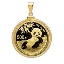2020 30 gram Gold Panda Pendant (Diamond-Cut Screw Top Bezel)