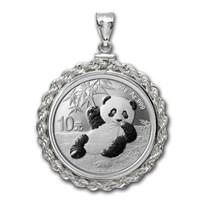 2020 30 gram Silver Panda Pendant (Rope-ScrewTop Bezel)