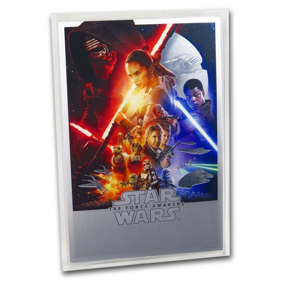 2020 35 gram Silver $2 Star Wars The Force Awakens