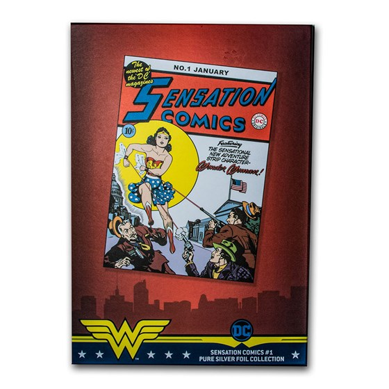 2020 35 gram Silver DC Sensation Comics Issue #1 - Wonder Woman
