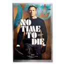 2020 35 grams Silver James Bond Movie Poster Foil No Time to Die