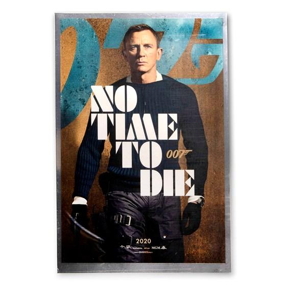 2020 35 grams Silver James Bond Movie Poster Foil No Time to Die