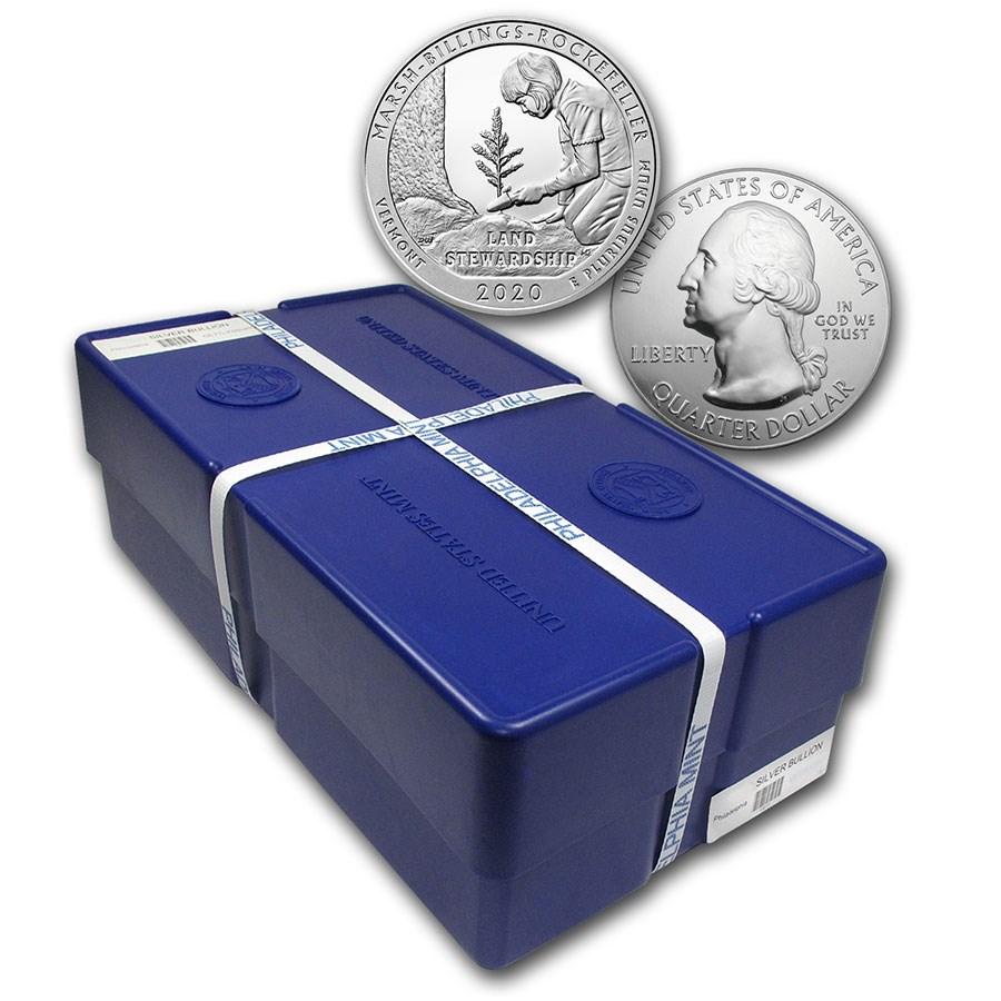 2020 5 oz Silver ATB Marsh-Billings-Rockefeller, VT (Sealed Box)