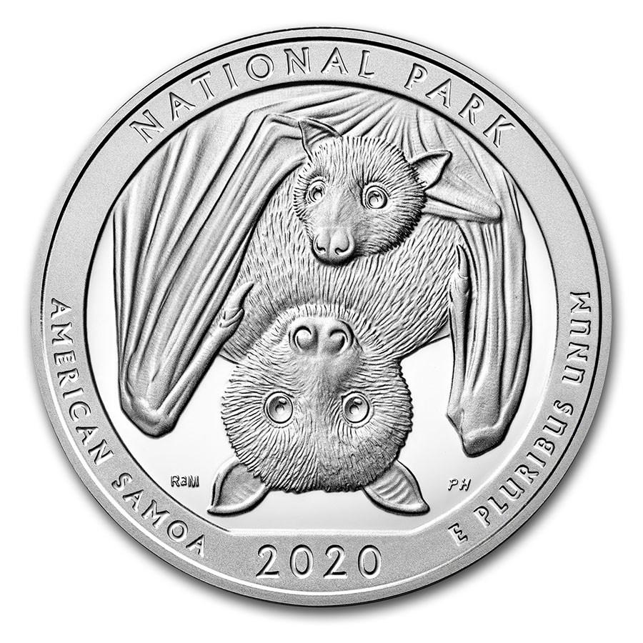 2020 5 oz Silver ATB National Park of American Samoa, AS