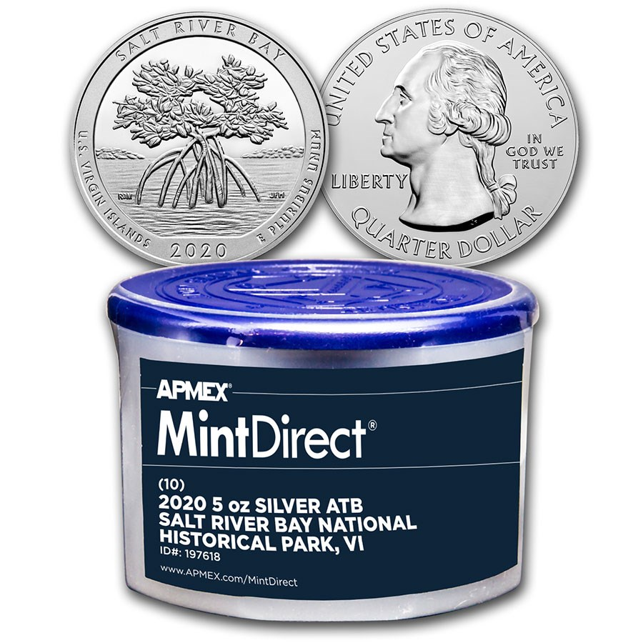 2020 5 oz Silver ATB Salt River Bay (10-Coin MintDirect® Tube)