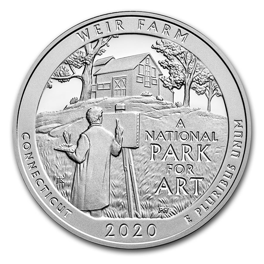 2020 5 oz Silver ATB Weir Farm National Historic Site, CT