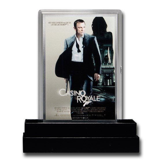 2020 5g Silver James Bond 007 Movie Poster Foil Casino Royale
