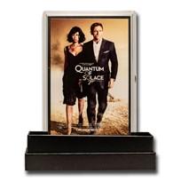 2020 5g Silver James Bond 007 Movie Poster Foil Quantum of Solace