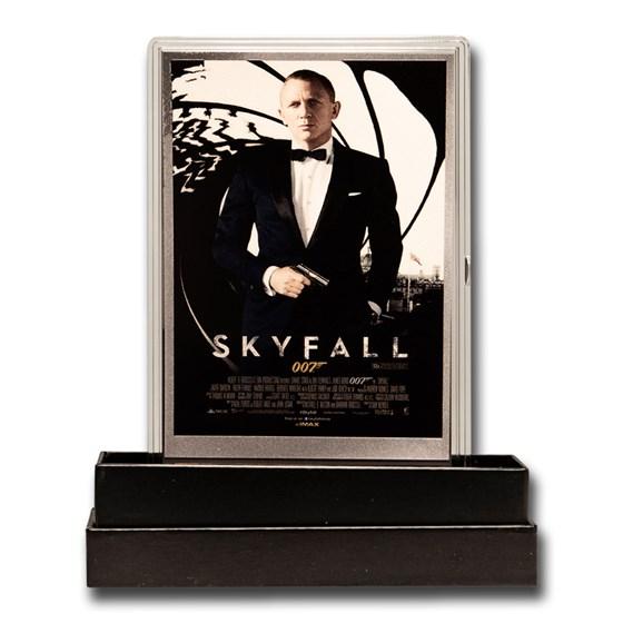 2020 5g Silver James Bond 007 Movie Poster Foil Skyfall