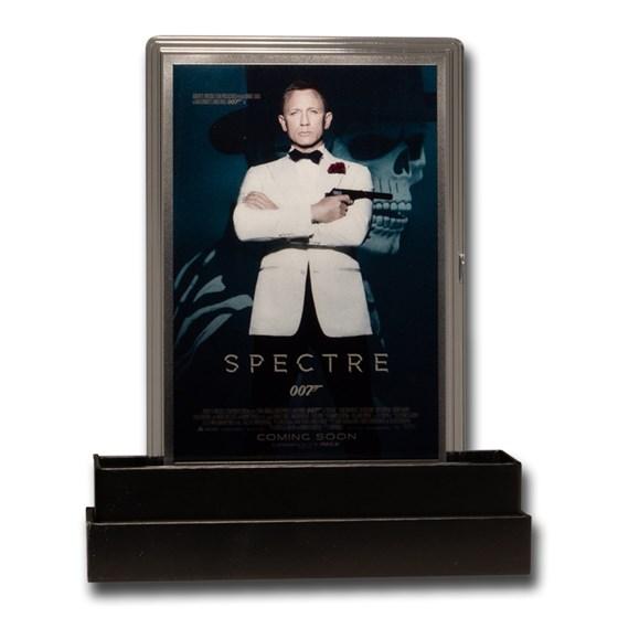 2020 5g Silver James Bond 007 Movie Poster Foil Spectre
