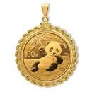 2020 8 gram Gold Panda Pendant (Rope-Screw Top Bezel)