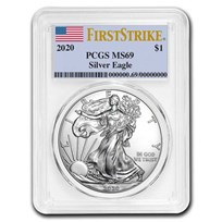 2020 American Silver Eagle MS-69 PCGS (FirstStrike®)