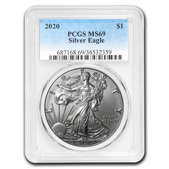2020 American Silver Eagle MS-69 PCGS