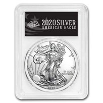 2020 American Silver Eagle MS-70 PCGS (First Day, Black Label)