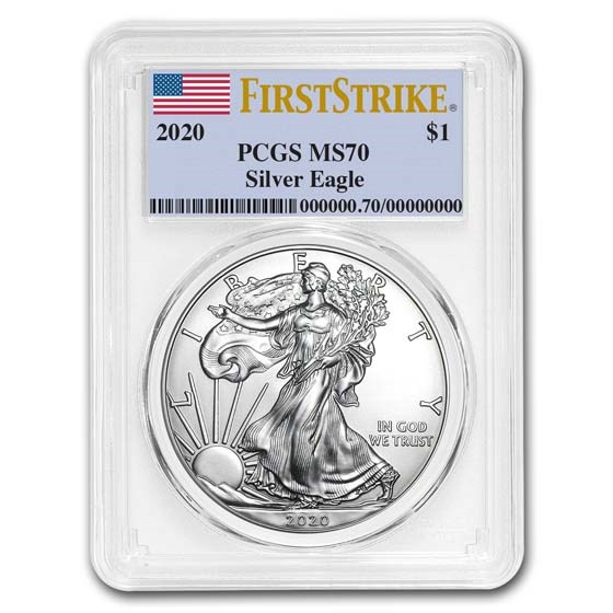 2020 American Silver Eagle MS-70 PCGS (FirstStrike®)