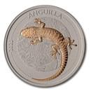 2020 Anguilla 1 oz Silver CeCo Edition: Gecko BU