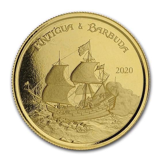 2020 Antigua & Barbuda 1 oz Gold Rum Runner BU