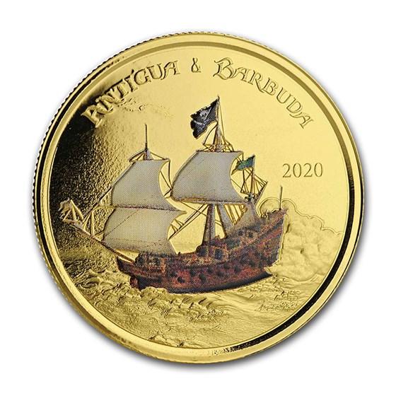 2020 Antigua & Barbuda 1 oz Gold Rum Runner (Colorized)