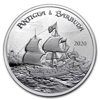 2020 Antigua & Barbuda 1 oz Silver Rum Runner BU