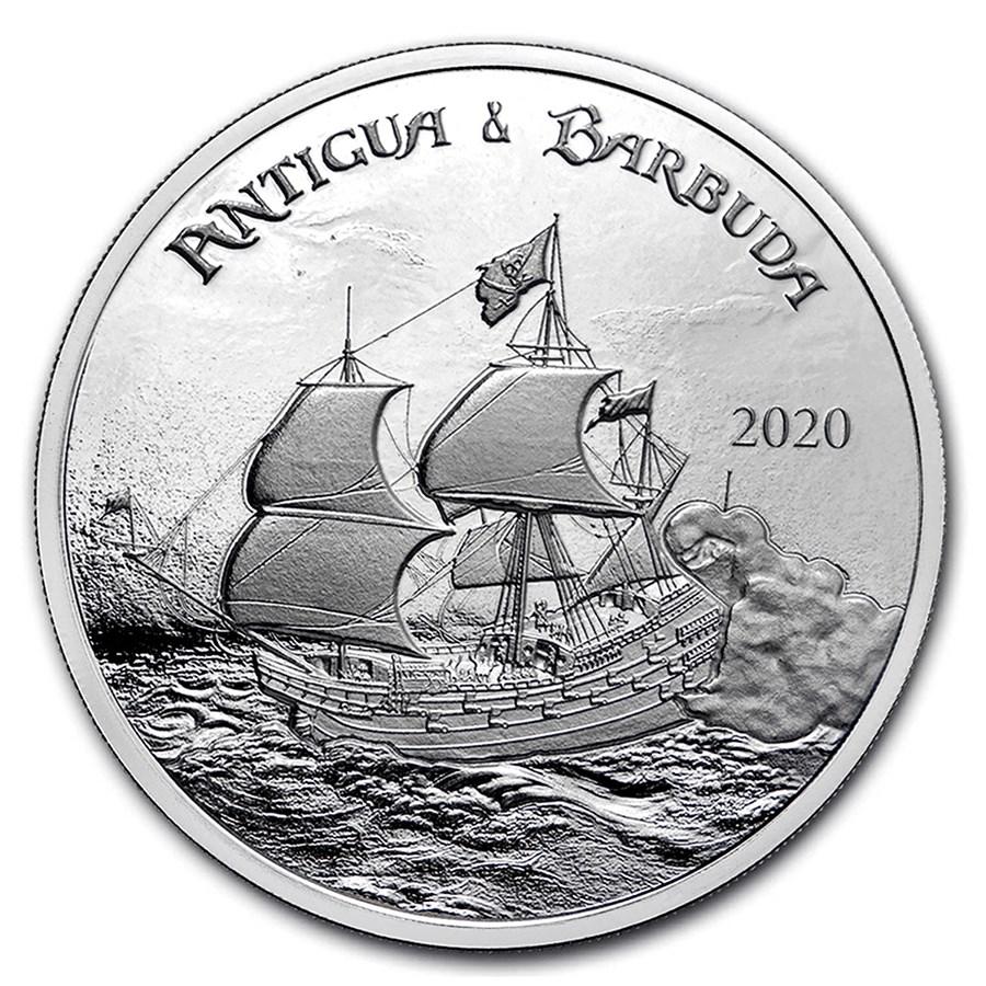 2020 Antigua & Barbuda 1 oz Silver Rum Runner BU