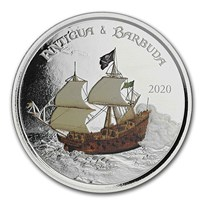 2020 Antigua & Barbuda 1 oz Silver Rum Runner Proof (Colorized)