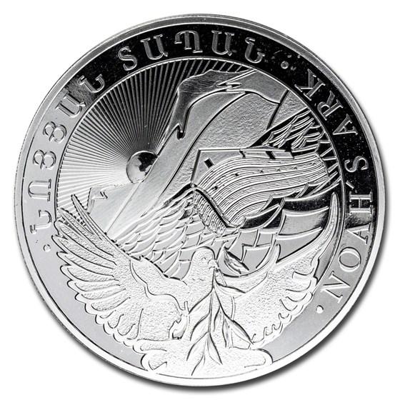 2020 Armenia 5 oz Silver 1000 Drams Noah's Ark