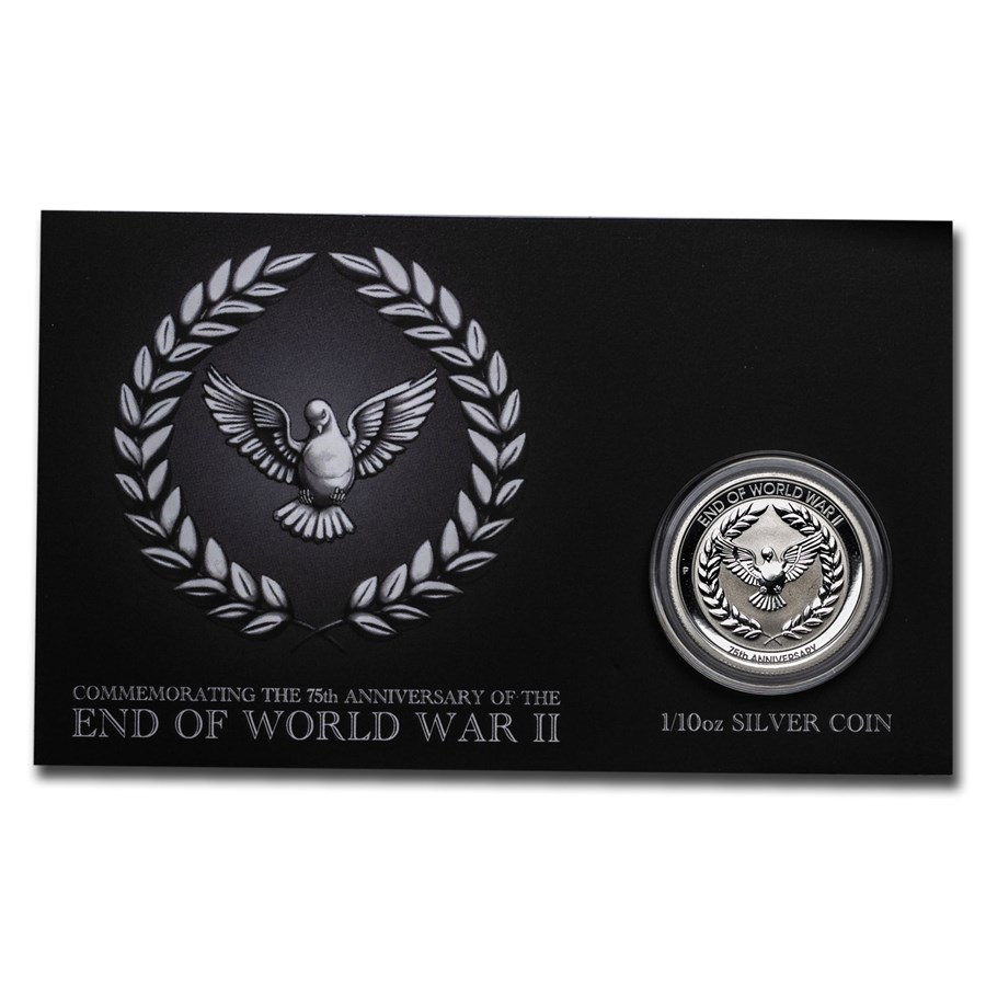 2020 AUS 1/10 oz Silver End of WWII 75th Anniver Proof (In Card)