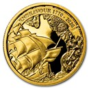 2020 AUS 1/4 oz Gold Voyage of Discovery Endeavour 1770-2020