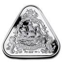 2020 AUS 1 oz Silver $1 Vergulde Draeck Shipwreck (Gilt Dragon)
