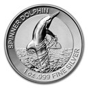 2020 AUS 1 oz Silver Dolphin High Relief Proof (COA #4, w/ Box)