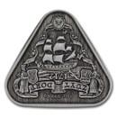 2020 AUS 1 oz Silver Zuytdorp Shipwreck Antiqued