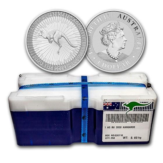 2020 AUS 250-Coin 1 oz Silver Kangaroo Mini Monster Box BU- promo