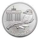 2020 Australia $1 1 oz Silver: Brandenburg Gate (Abrasions)